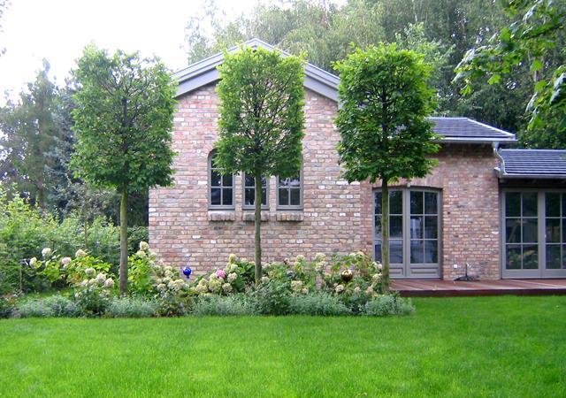 Pflanzenverwendung: Baumreihen erzeugen einen gestalterischen Rhythmus innerhalb der Pflanzung.